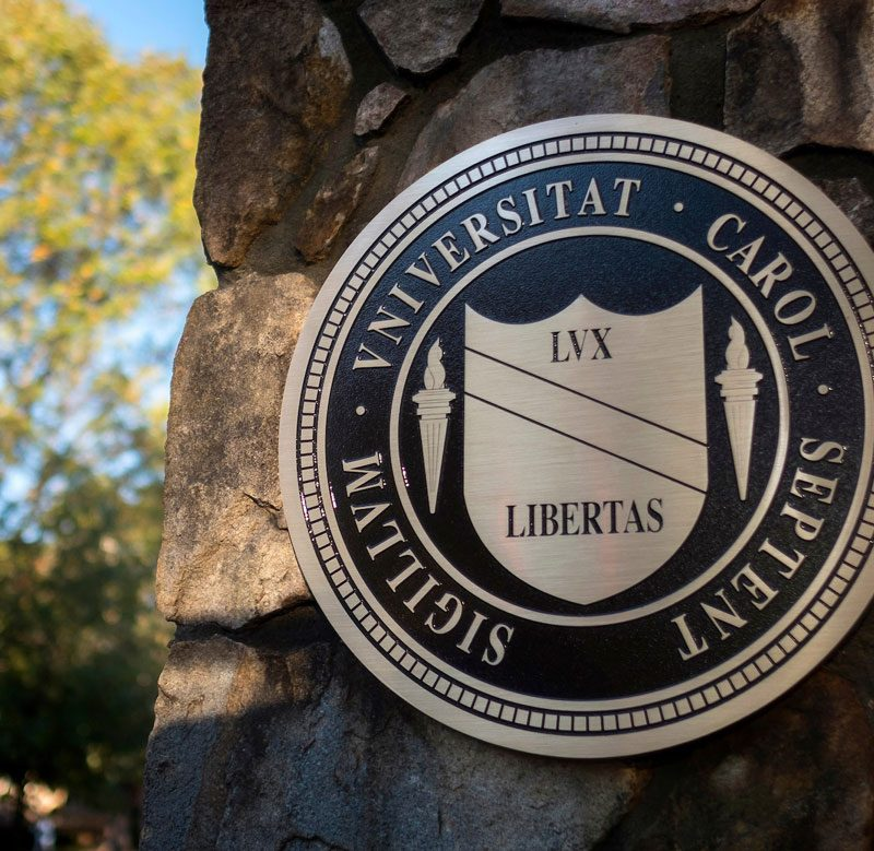 Fall scene of the seal of the University of North Carolina at Chapel Hill