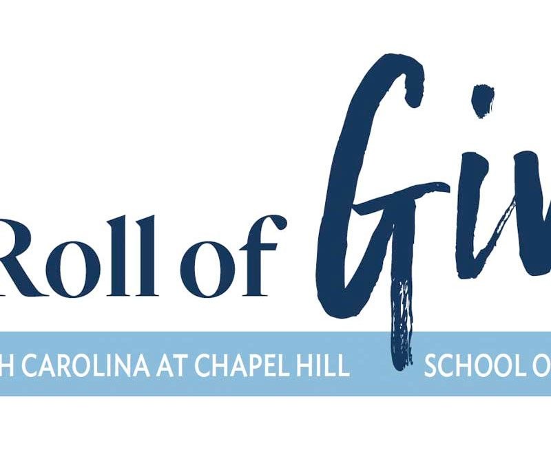 Honor Roll of Giving for the UNC School of Social Work